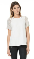 Rebecca Taylor Short Sleeve Tee With Nailheads