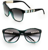 Bulgari BVLGARI Ruffle Temple Cat's-Eye Sunglasses