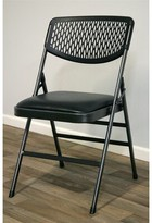 Cosco Home And Office Commercial Vinyl Padded Folding Chair Home and Office Frame Color: Hammertone