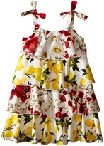 Dolce & Gabbana Margherita Ruffle Dress (Big Kids)