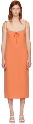 Maryam Nassir Zadeh Orange Serpentine Suiting Dress