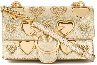 Pinko Love metallic shoulder bag