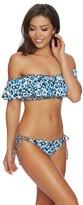 Splendid Tropic Spots Off Shoulder Bandeau Bikini Top