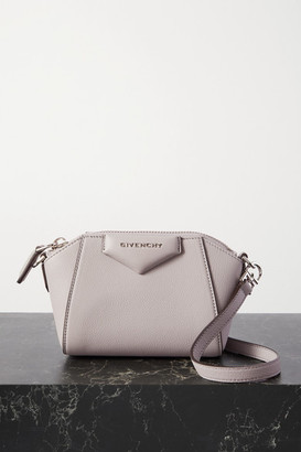 Givenchy Antigona Nano Textured-leather Shoulder Bag - Gray