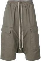 Rick Owens drop-crotch pocket shorts