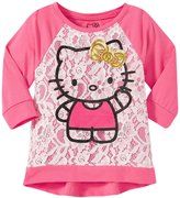 Hello Kitty Lace Over Jersey Top (Toddler/Kid) - New Pink - 2T