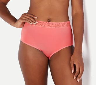 Breezies Set of 3 Microfiber Full Brief Panties with Lace