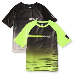 Russell Boys' 4-18 2-pack Printed Short Sleeve Active Shirts