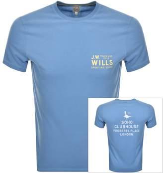 Jack Wills Mallett Short Sleeved T Shirt Blue