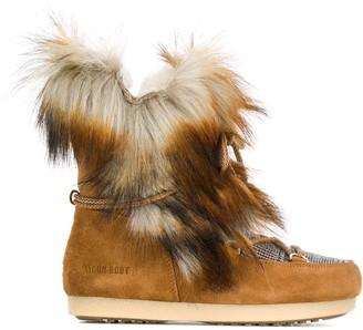 Moon Boot Far Side faux fur boots