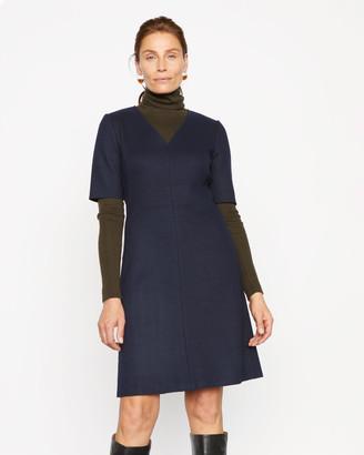 Jigsaw Wool Shift Midi Dress