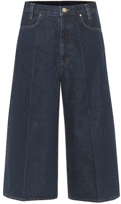 Gold Sign Covell high-rise denim culottes