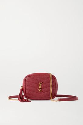 Saint Laurent Lou Baby Textured-leather Shoulder Bag