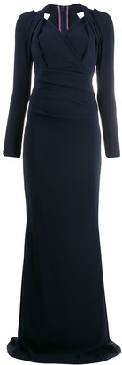 Talbot Runhof Wrap Front Dress
