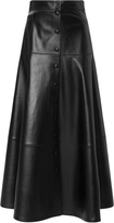 Michael Kors Leather Midi Skirt