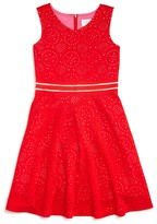 Us Angels Girls' Laser Cut Dress - Sizes 7-16