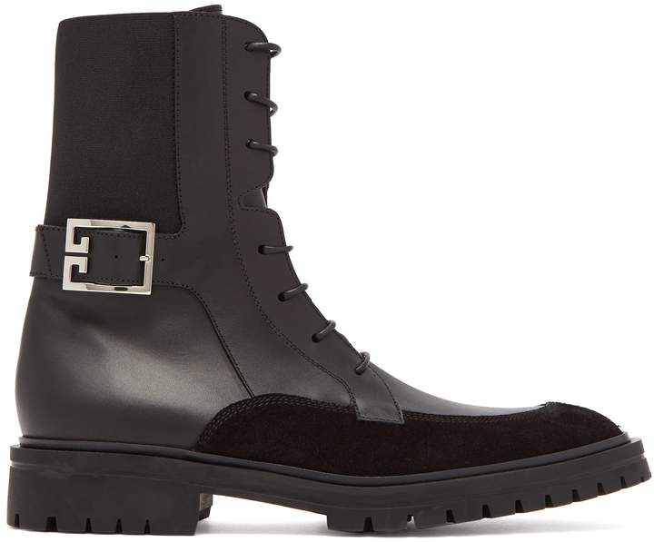 Givenchy Aviator 4G leather boots