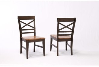 Ophelia & Co. Hayden X Back 2 Tone Dining Chair (Set of 2 Color: Black Oak