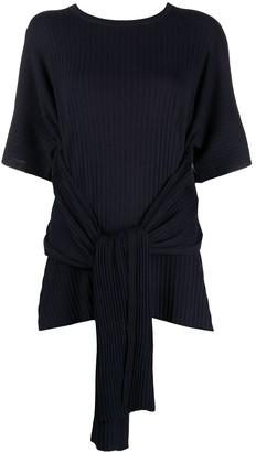 Sminfinity tie-waist short-sleeve T-shirt