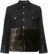 Harvey Faircloth fur panel buttoned jacket