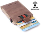 Borgaet Men' RFID Blocking Walletlim Pure Front Pocket Wallet for Men