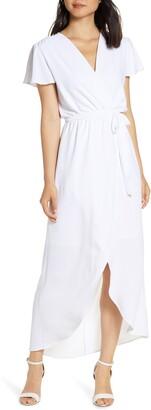 Fraiche by J High/Low Faux Wrap Dress