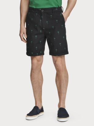 Scotch & Soda Mini Jacquard Pattern Chino Shorts | Men