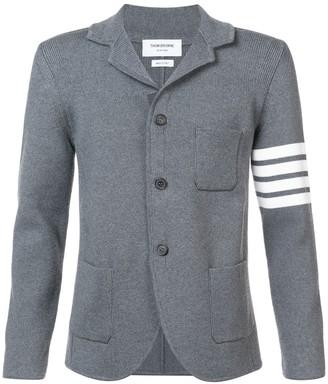 Thom Browne 4-Bar single-breasted knitted blazer