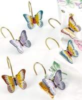 "Lenox Butterfly Meadow"" Shower Curtain Hooks, Set of 12"