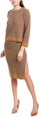Asm Anna 2Pc Wool & Cashmere-Blend Sweater & Skirt Set