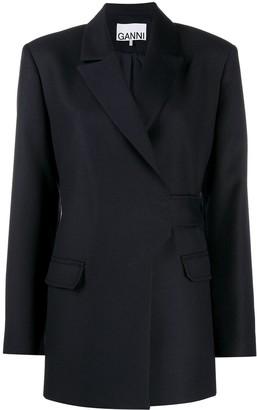 Ganni Wrap-Style Blazer Jacket