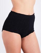Marysia Swim Ladies Black Full Coverage Retro Lahaina High-Waisted Bikini Bottoms