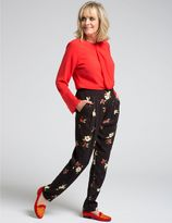 Marks and Spencer Floral Print Crepe Trousers