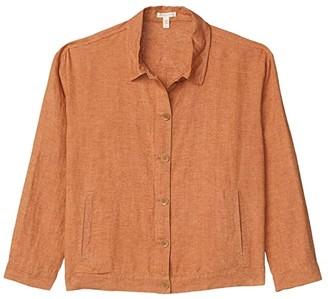 Eileen Fisher Classic Collar Jacket (Cinnamon) Women's Clothing