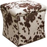Skyline Furniture Merritt Storage Ottoman, White/Chocolate