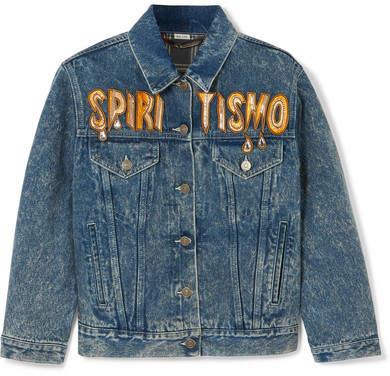43501693e190 Gucci Blue Women s Denim Jackets - ShopStyle