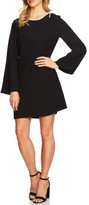 CeCe Women's Moss Tie Shoulder Bell Sleeve Shift Dress
