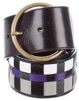 Miu Miu Leather Woven Belt