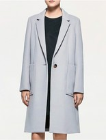 Calvin Klein Platinum Wool Felt Long Coat
