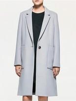 Calvin Klein Platinum Wool Felt Long Coat