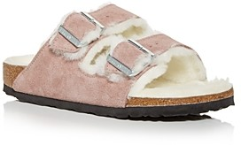 Birkenstock Women's Arizona Shearling Slide Sandals