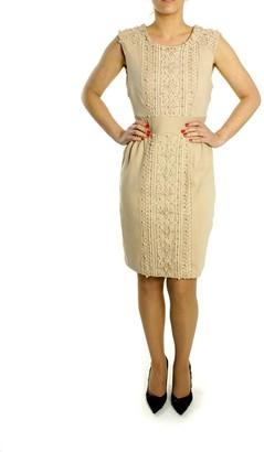 Darling Pink Viscose and Nylon Stick Lace Dress - S - Natural