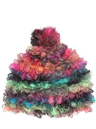 Grevi Multicolor Crochet Hat With Pom Pom