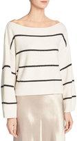 Vince Wide-Stripe Cashmere Boat-Neck Sweater