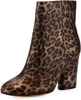 Neiman Marcus Niana Leopard-Print Bootie, Brown