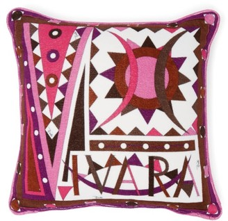 Emilio Pucci Vivara-print Cotton-terry Cushion - Dark Pink