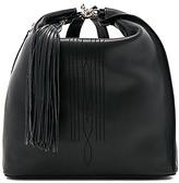 AllSaints Cooper Leather Backpack in Black.