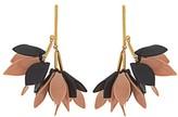 Marni Flower-drop leather earrings