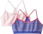 Calvin Klein Big Girls' 2 Pack Seamless Crop Bra