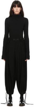 Regulation Yohji Yamamoto Black Suspender Trousers